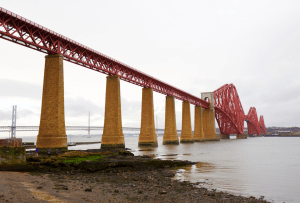 Forth Bridge from shoreline