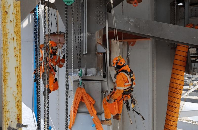 Spencer Group engineers at Forth Road Bridge