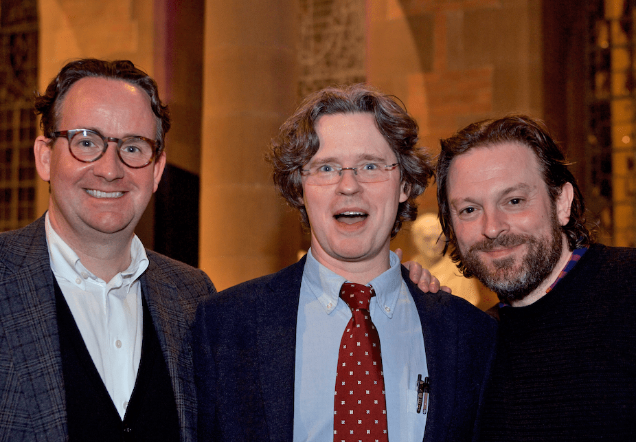 Andrew Wilson, Mure Dickie of the Financial Times and Chris Deerin, writer (and now singer)