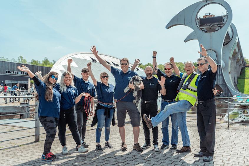 Wave staff af Falkirk Wheel