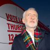 Jeremy Corbyn and party bus