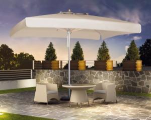 ombrellone giardino quadrato