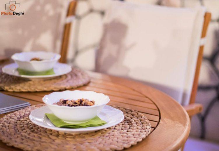 tavolo tondo legno giardino