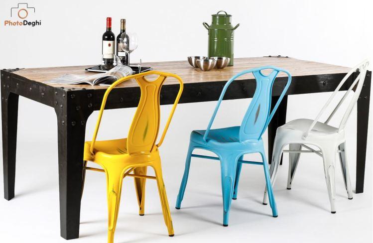 tavolo sedie metallo