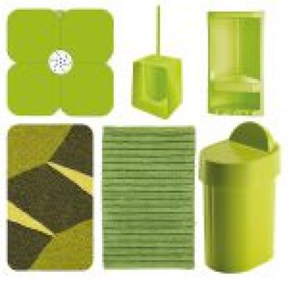 Set accessori bagno verde