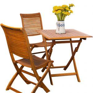 set giardino 2 posti in legno balau
