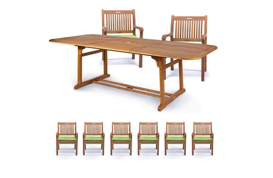 set pranzo esterno legno balau