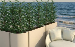 arredare giardino piccolo vasi