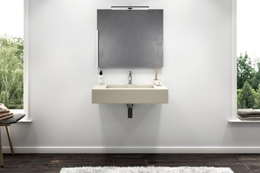 lavabo sospeso in gelcoat