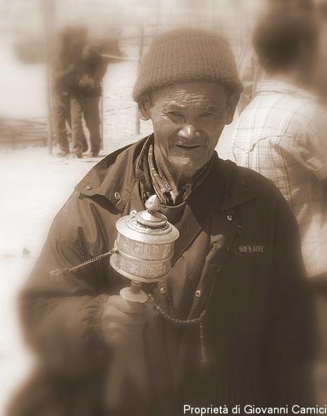 Anziano ladakhi