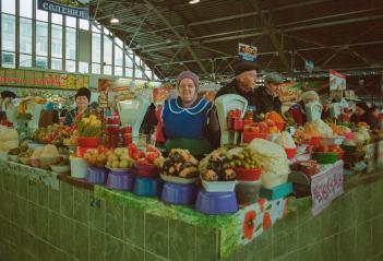 Mercato della carne a Bender, Transnistria 2017