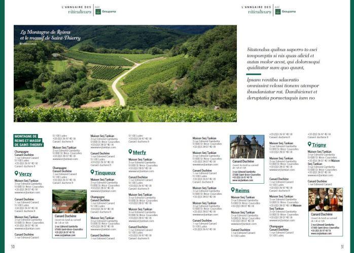 maquette annuaire des viticulteurs