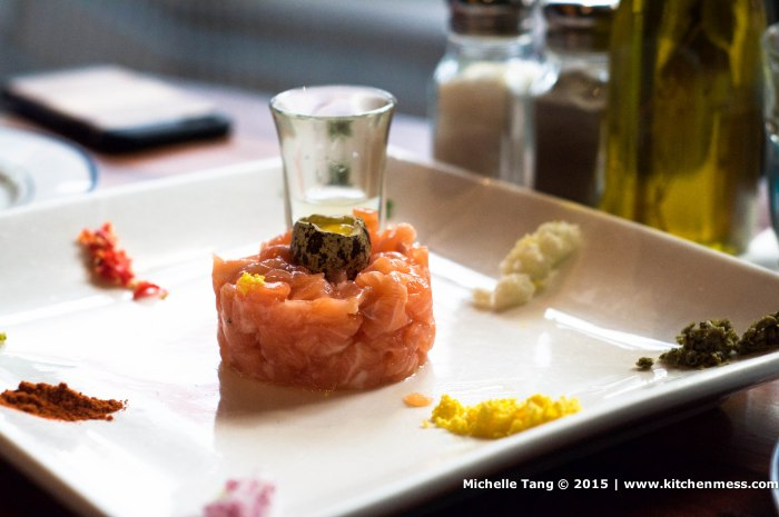 iberico tartar of salmon