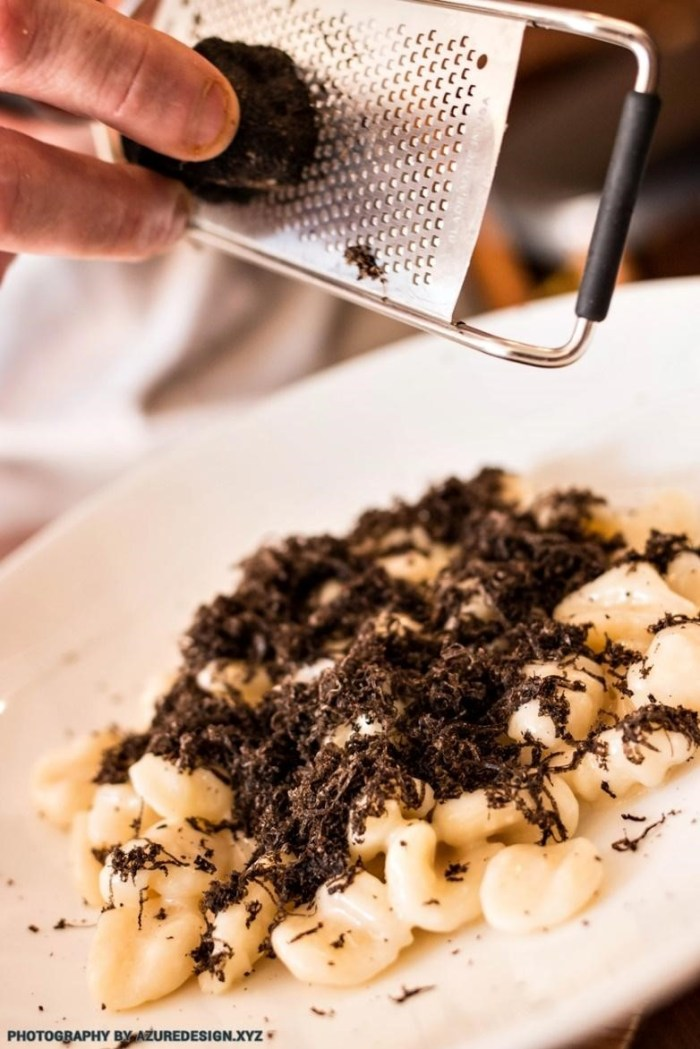 Shavings of truffle by Chef Michele