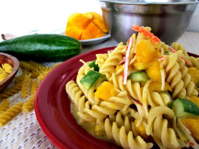 east-west-cafe-mango-crabstick-and-pasta-salad