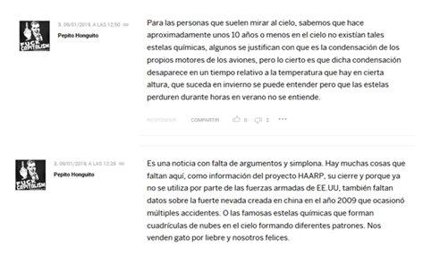 Algunas de las reacciones al artículo de Mulet sobre geoingeniería y chemtrails