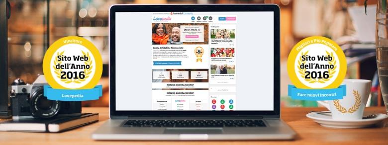 Sito Web dell'Anno 2016: Lovepedia vince tutto al #SWDA2016