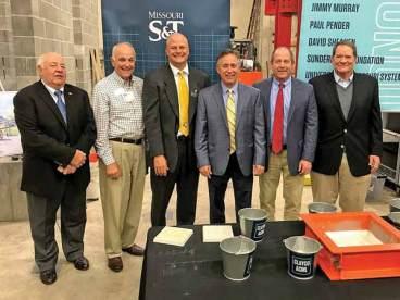 (left to right): Bob Sieckhaus, Matt Coco, Joel Burken, Steve Sieckhaus, Tom Sieckhaus and Dick Arnoldy. Photo by Joann Stiritz/Missouri S&T