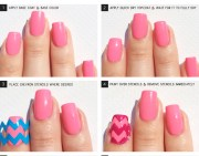 chevron nail art tutorial nailpolis