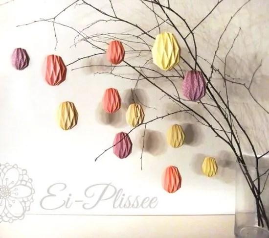 decorazioni per la Pasqua - albero uova carta