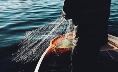 clean sea life - pescatore con rete