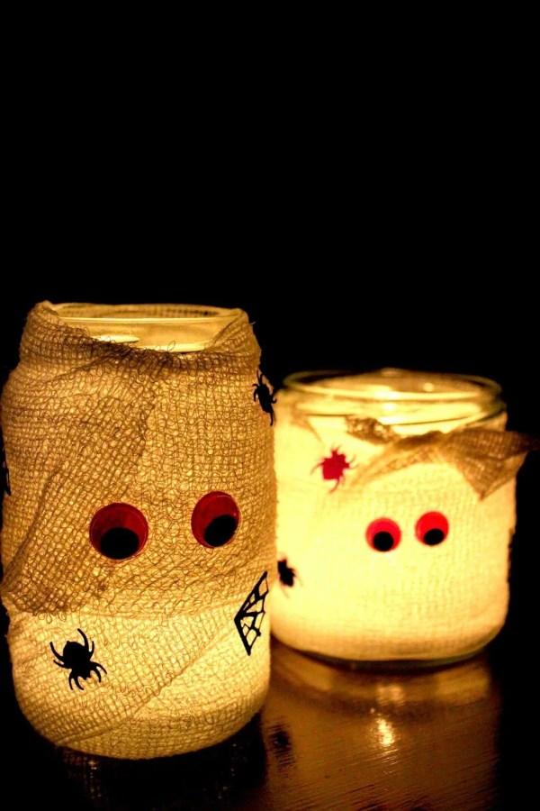 decorazioni per halloween - candele mummie