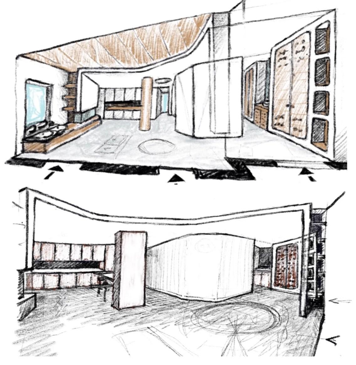 Casa Pa - Schizzo progettuale