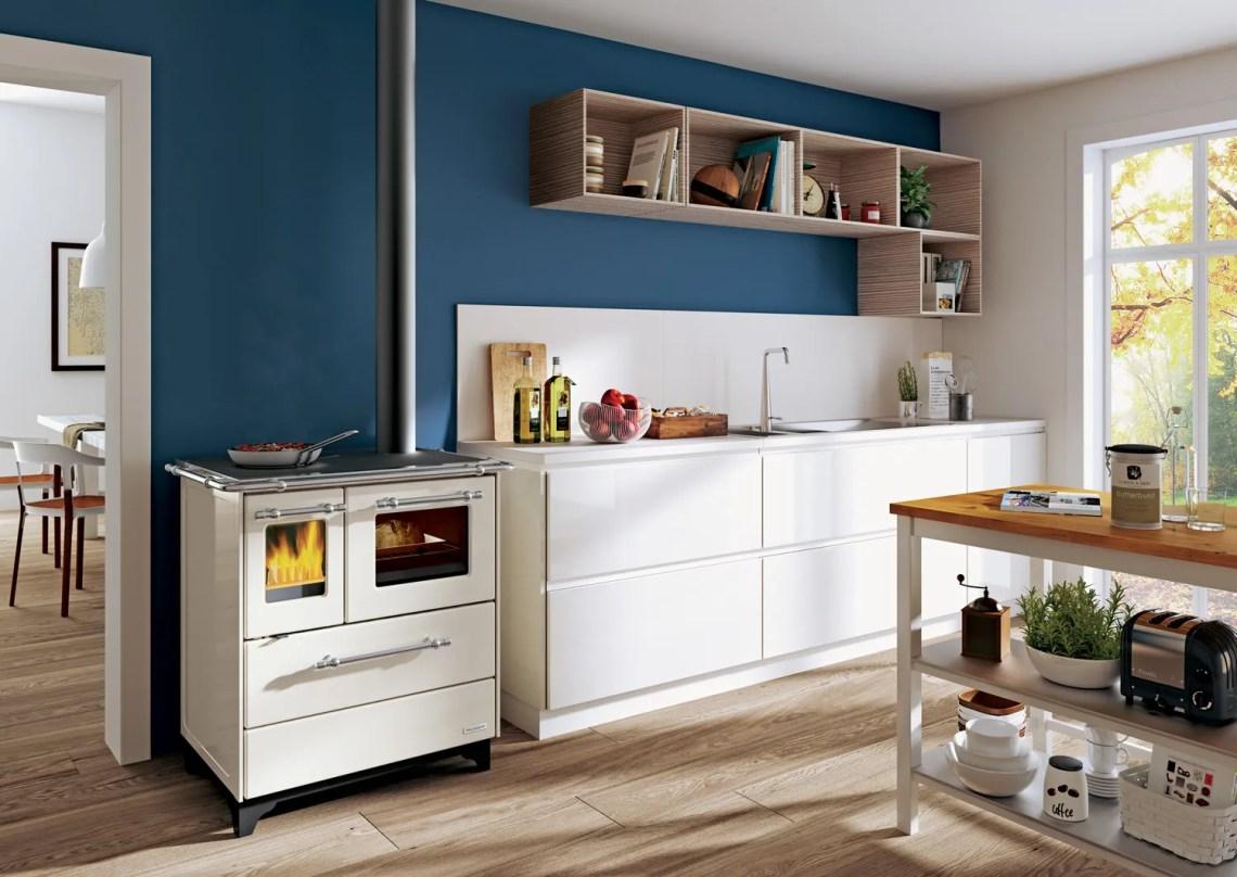 come progettare la cucina - cucina a legna Alba di Palazzeti
