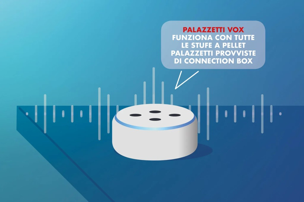 Con Palazzetti Vox controlli tutte le stufe a pellet provviste di Connection Box