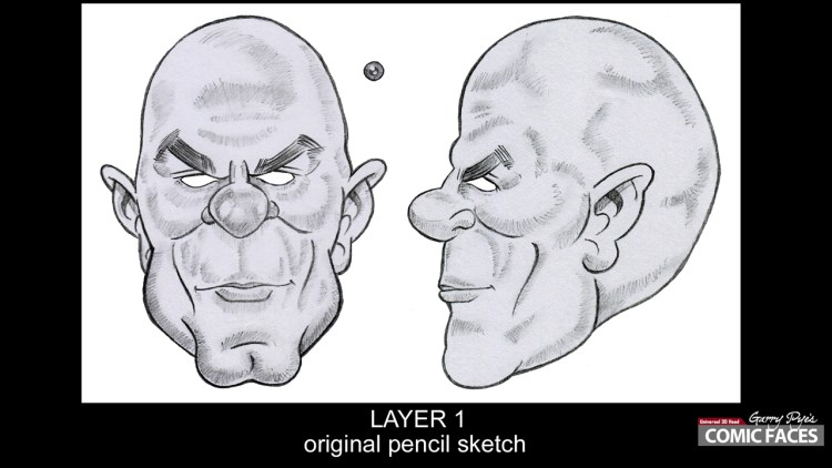 step 1 - pencil to sketch - image 1