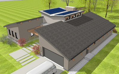 rendering of sustainable home