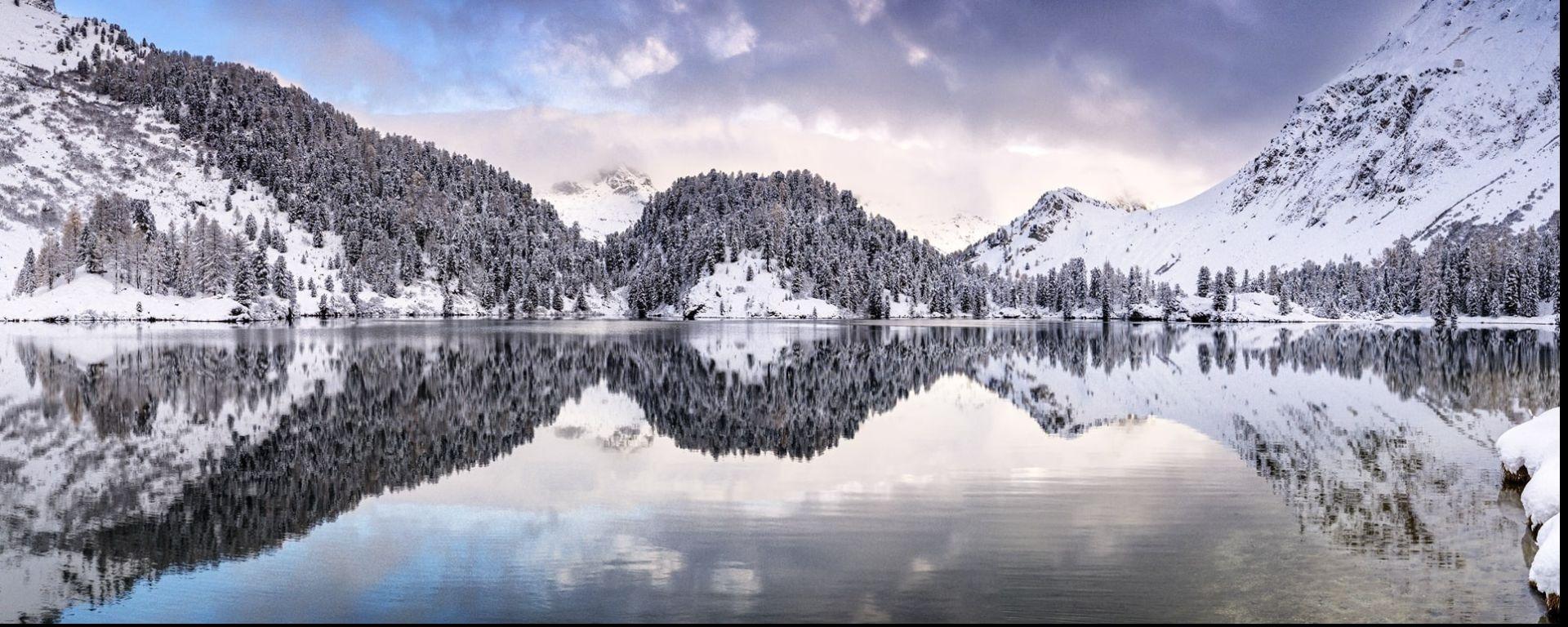 Banner Black November Mountains Lakes