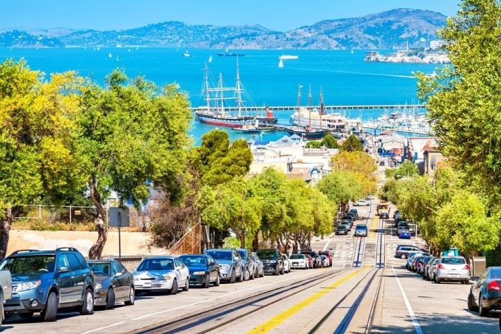 San Francisco cityscape Hyde Street