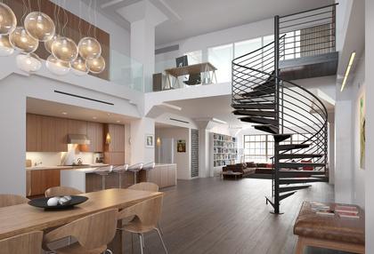 Une maison avec des espaces ouverts