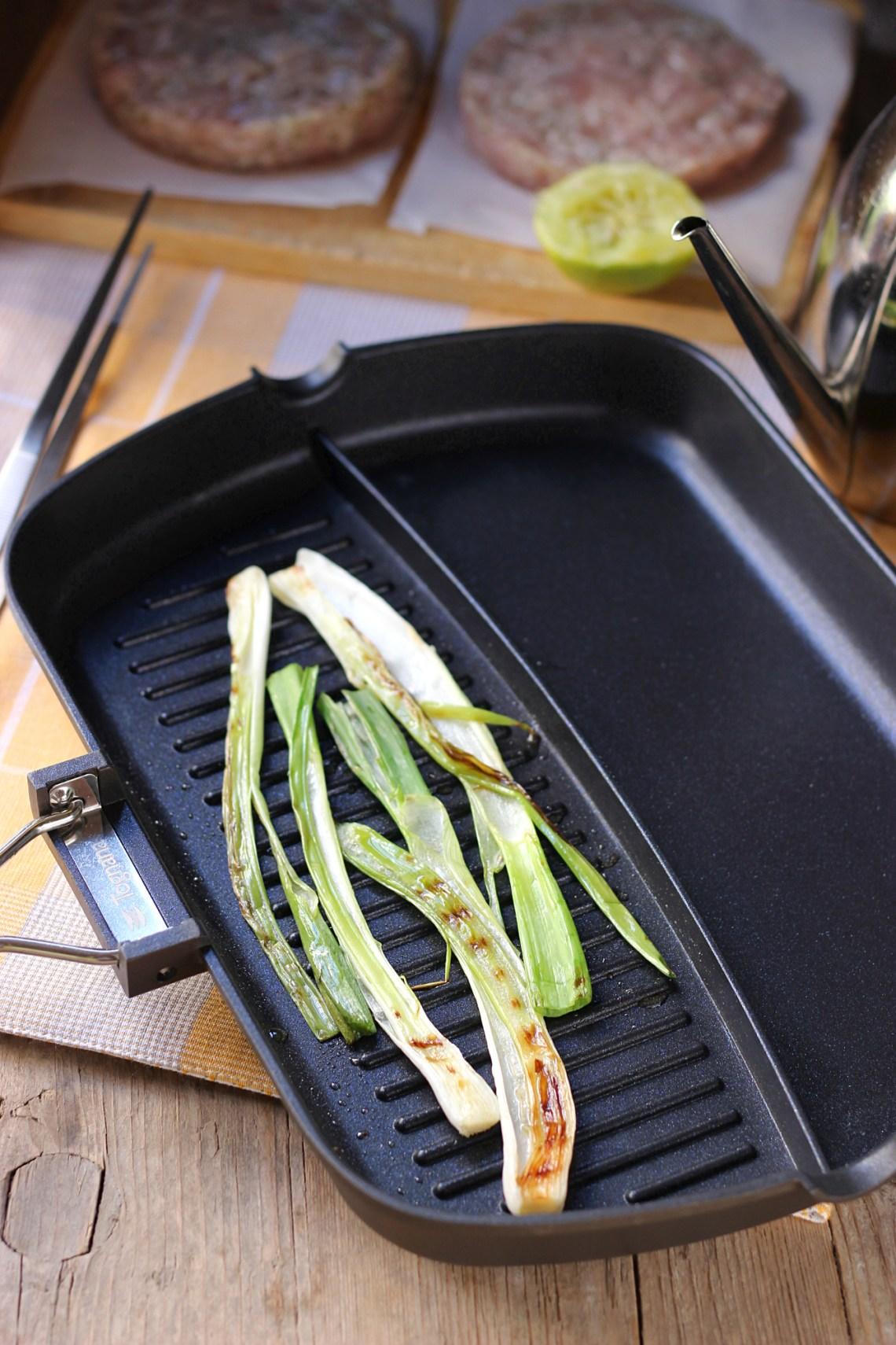 Cipollotti grigliati con grill Tognana