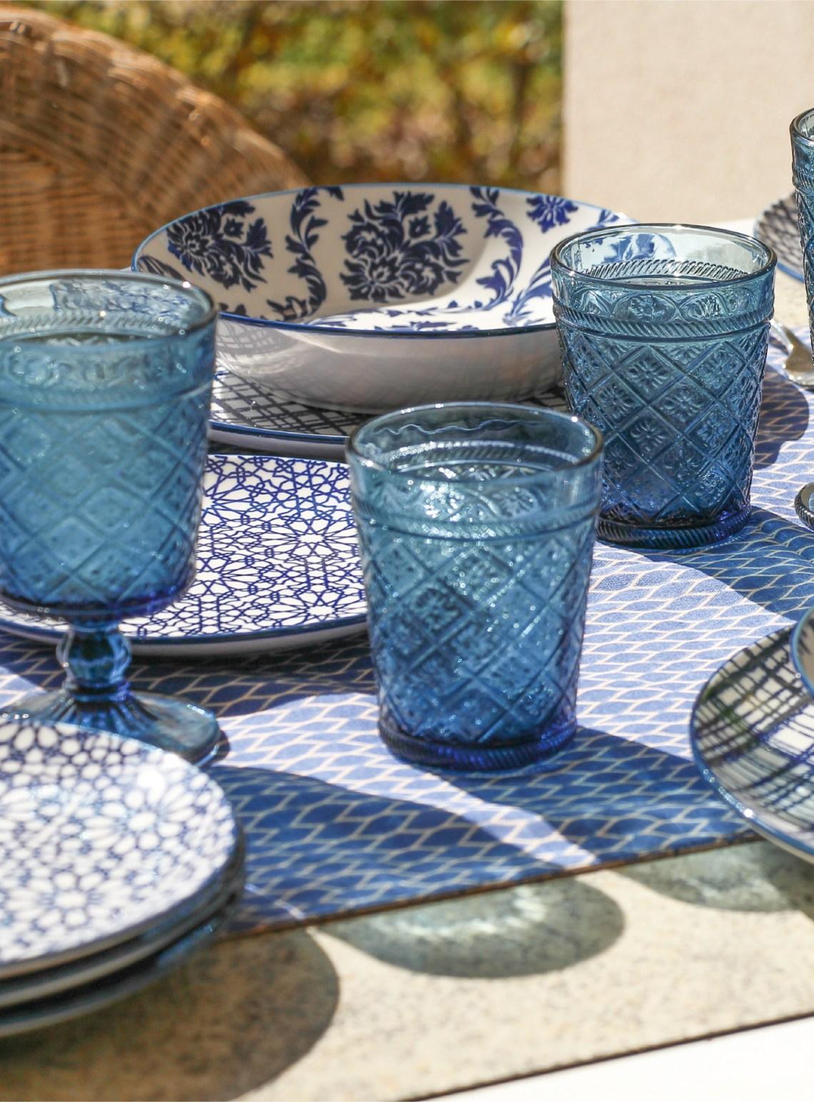 moon bluepoint - servizio piatti tognana fontebasso