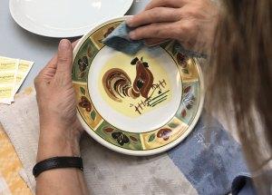 linea-siena-galletto - piatto tognana decorato a mano made-in-italy
