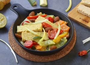 Ricetta curry di verdure e tempeh