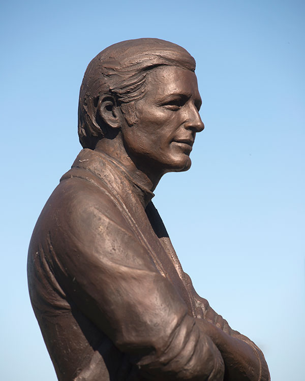 Sochor statue at Aggie Stadium