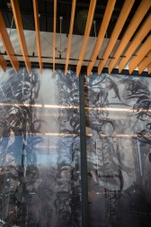 Other nods to the function of the new building include a frosted glass window featuring kelp imagery on the wall of the Core Seawater Laboratory.