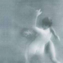 black and white picture of man grabbing woman