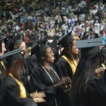 Close up of graduates at 2009 Commencement