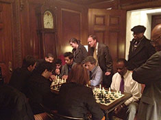 Chess team at state house image