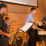 Jazz players performing