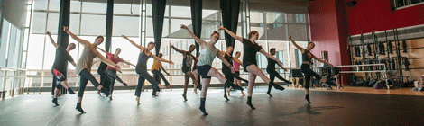 dancers dance in dance cube