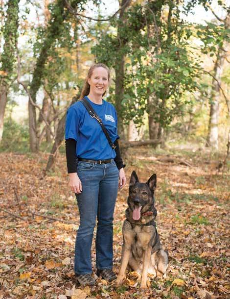 "Lisa Kakavas and her dog, Zildjian ""Z"" for short"