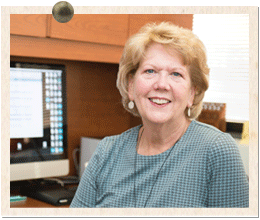Susan Schneider, business services specialist in biological sciences, grew up nearby and watched UMBC grow.