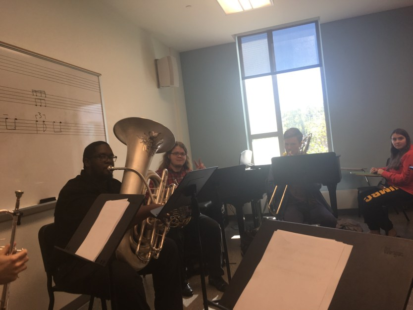 Kids practicing instruments in PAHB practice room