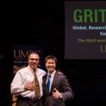Hrabowski poses with speaker at Grit X