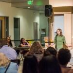 Poetry slam at UMBC homecoming